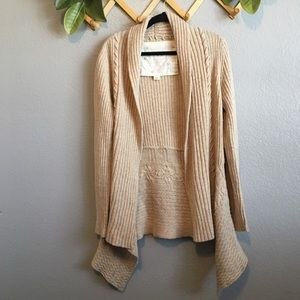 Anthropologie Canary Knitting Needles Cardigan